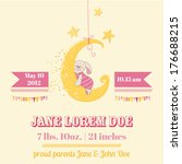 baby shower or arrival card  ... | Shutterstock .eps vector #176688215