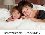 shots of a mother  daughters... | Shutterstock . vector #176688347