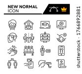 new normal line icons set.... | Shutterstock .eps vector #1766892881