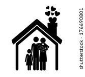 family design over white ... | Shutterstock .eps vector #176690801