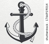 anchor vector logo icon... | Shutterstock .eps vector #1766919014