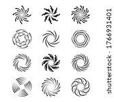 Spinning Swirls Set. Circular...