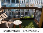 Apartment Balcony In City With...