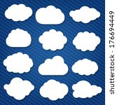 cartoon clouds set | Shutterstock . vector #176694449