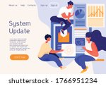 system update on a website with ...