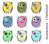 illustration of colorful set... | Shutterstock .eps vector #176696369