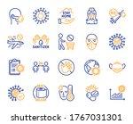 coronavirus line icons. medical ...   Shutterstock .eps vector #1767031301