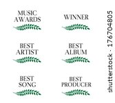 music awards winners 3 | Shutterstock .eps vector #176704805