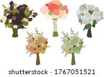 icons bouquet of flowers... | Shutterstock .eps vector #1767051521