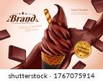 Chocolate Soft Serve Ice Cream...
