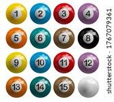snooker pool balls billiards... | Shutterstock . vector #1767079361