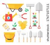 gardening icons. gardening... | Shutterstock .eps vector #1767107111