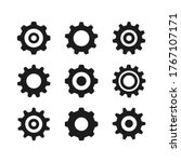 gear icons set. black color.... | Shutterstock .eps vector #1767107171
