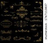 golden ornament set. ornamental ...   Shutterstock .eps vector #1767113837