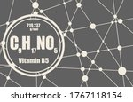 pantothenic acid or vitamin b5... | Shutterstock .eps vector #1767118154