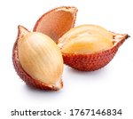 Small photo of Fresh Waive tropical fruit isolated on a white, Waive fruit isolated on white background