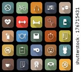 wellness flat icons with long... | Shutterstock .eps vector #176715431