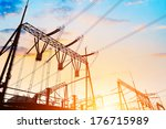 high voltage electric...   Shutterstock . vector #176715989