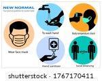 new normal your practical...   Shutterstock .eps vector #1767170411