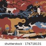 colorful editable vector... | Shutterstock .eps vector #176718131