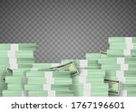 Pile Of Us Paper Currency...