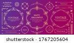 halloween frame material ...   Shutterstock .eps vector #1767205604