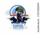 illustration of kargil vijay... | Shutterstock .eps vector #1767206594