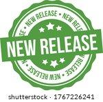 new release stamp. green eps10...   Shutterstock .eps vector #1767226241