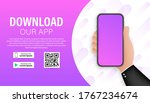 download page of the mobile app.... | Shutterstock .eps vector #1767234674