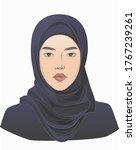 middle eastern arabian muslim... | Shutterstock .eps vector #1767239261