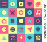 geometric ui icons background...