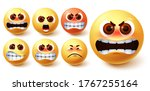 angry emoji vector set. emoji... | Shutterstock .eps vector #1767255164