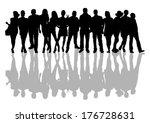 people shadow | Shutterstock .eps vector #176728631