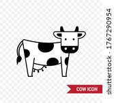 icon of a dairy cow. nice... | Shutterstock .eps vector #1767290954