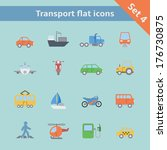 transportation flat icons set... | Shutterstock .eps vector #176730875