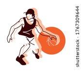 player man with ball design ...   Shutterstock .eps vector #1767309644