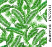 tropical palm tree seampless... | Shutterstock .eps vector #176730965