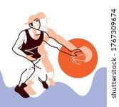 player man with ball design ...   Shutterstock .eps vector #1767309674