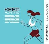 woman avatar keep running...   Shutterstock .eps vector #1767309701