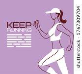 woman avatar keep running...   Shutterstock .eps vector #1767309704