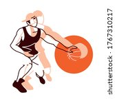 player man with ball design ...   Shutterstock .eps vector #1767310217