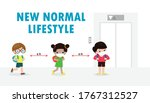 back to school for new normal... | Shutterstock .eps vector #1767312527