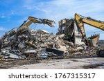 Building House Demolition Site...