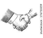 Business Handshake Man And...