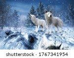3d Rendered Fantasy Winter...