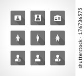 web site vector icons set... | Shutterstock .eps vector #176736575
