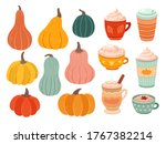 pumpkin season. creative simple ... | Shutterstock .eps vector #1767382214