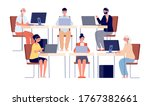 call center characters. contact ...   Shutterstock .eps vector #1767382661