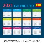 2021 calendar   vector template ...   Shutterstock .eps vector #1767403784
