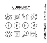 currency icon set. contains...